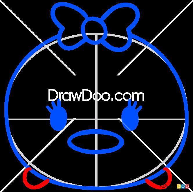 How to Draw Daisy Duck, Disney Tsum Tsum