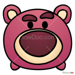 How to Draw Lotso Huggin Bear, Disney Tsum Tsum