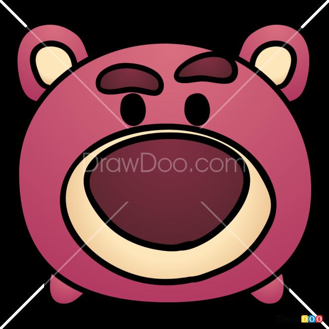 How to Draw Lotso Huggin Bear, Disney Tsum Tsum