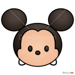 How to Draw Mickey Mouse, Disney Tsum Tsum