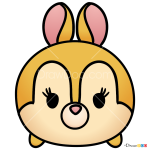How to Draw Miss Bunny, Disney Tsum Tsum