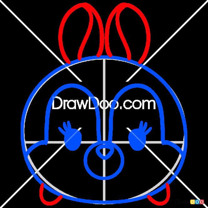 How to Draw Miss Bunny, Disney Tsum Tsum