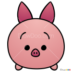 How to Draw Piglet, Disney Tsum Tsum