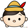 How to Draw Pinokio, Disney Tsum Tsum