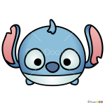 How to Draw Stitch, Disney Tsum Tsum