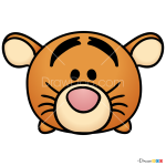 How to Draw Tigger, Disney Tsum Tsum