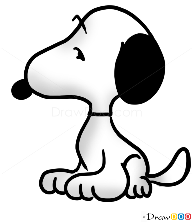 how to draw snoopy dogs and puppies