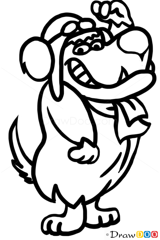 How to Draw Mutley, Dogs and Puppies