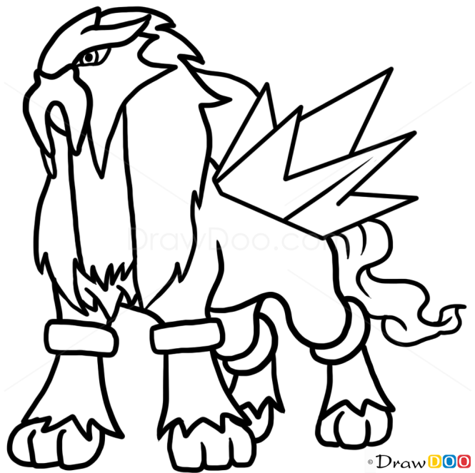 How to draw entei pokemon dogs and puppies altavistaventures Image collections