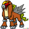 How to Draw Entei Pokemon, Dogs and Puppies