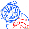 How to Draw Pug Laughing, Dogs and Puppies