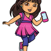 How to Draw Dora with Phone, Dora and Friends
