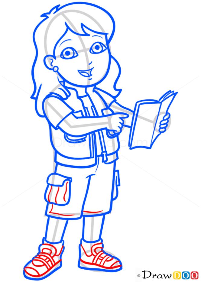 How to Draw Alicia, Dora