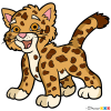 how to draw a baby leopard