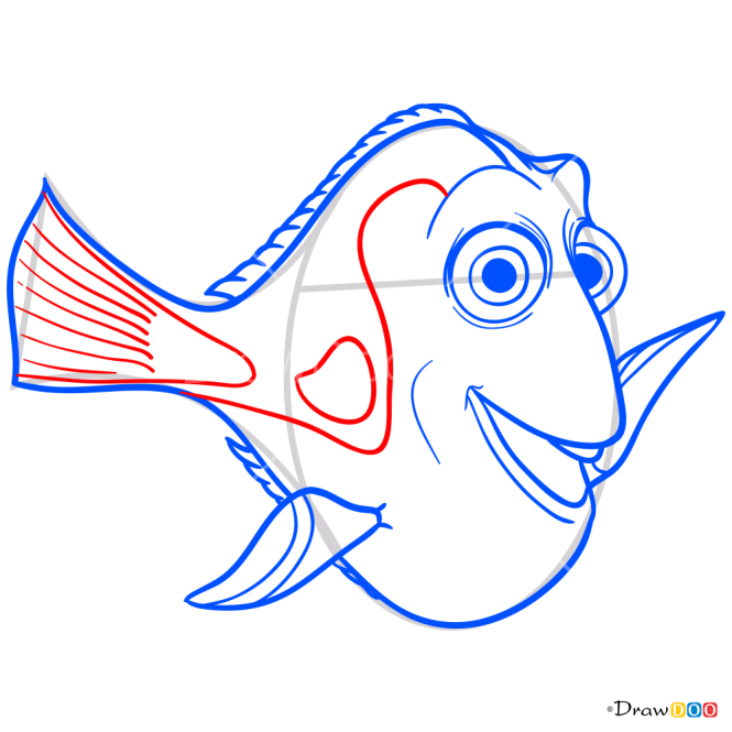 How to Draw Dory, Dory and Nemo