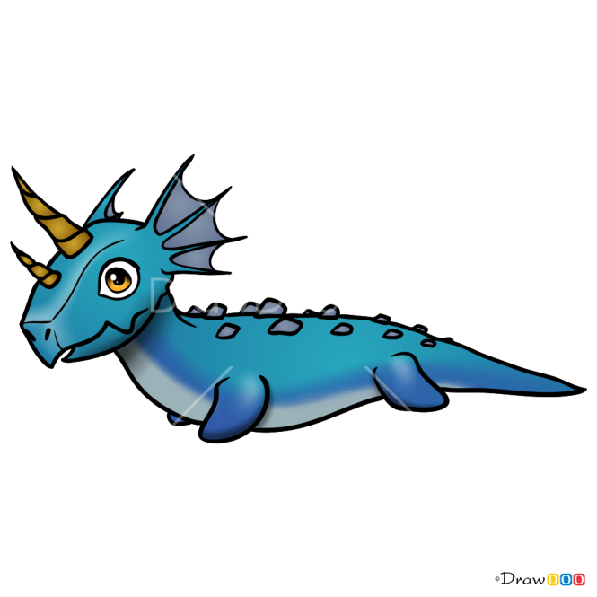 How to Draw Water Dragon, Dragon Mania legends