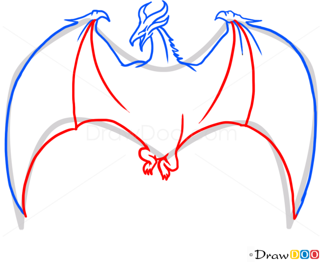 How to Draw Red Dragon, Dragons and Beasts
