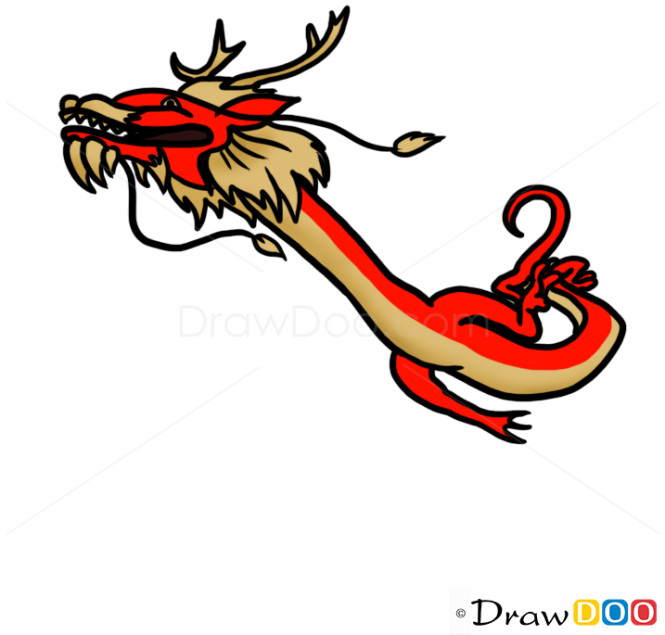 How To Draw Long Wang Chinese Dragon Dragons And Beasts