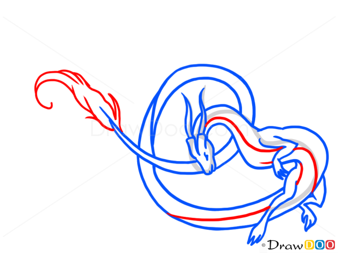 How to Draw Air Dragon, Dragons and Beasts