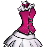How to Draw Draculaura Dress, Dolls Dress Up