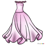 How to Draw Barbi Dress, Dolls Dress Up