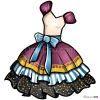 How to Draw Madeline Hatter Dress, Dolls Dress Up