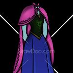 How to Draw Anna Dress, Dolls Dress Up