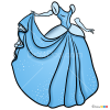 How to Draw Cinderella Dress, Dolls Dress Up