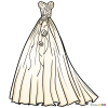 How to Draw Wedding Dress, Dolls Dress Up