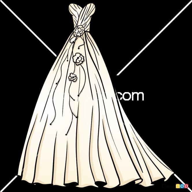 How to Draw Wedding Dress, Dolls Dress Up