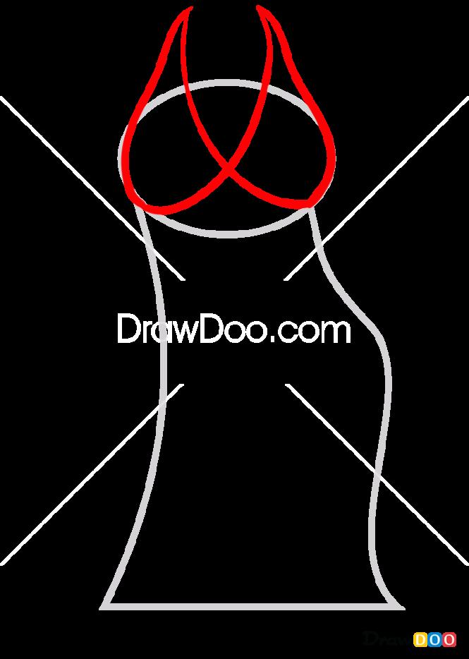 How to Draw Short Dress, Dolls Dress Up