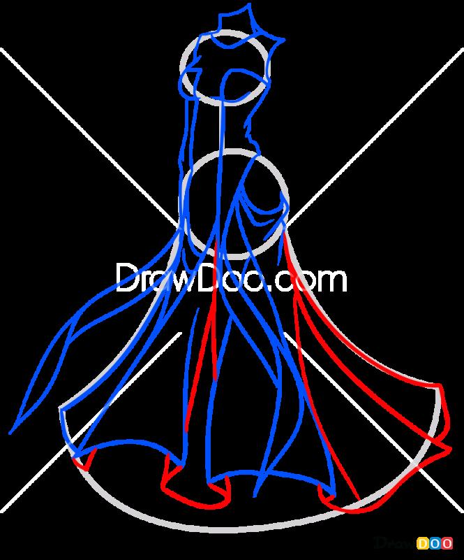 How to Draw Kira Vellar Dress, Dolls Dress Up