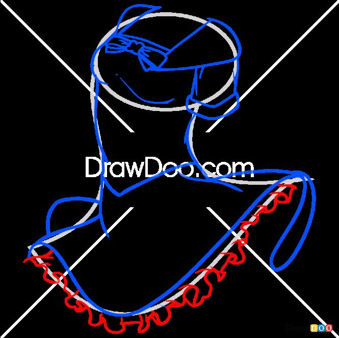 How to Draw Little Dress, Dolls Dress Up
