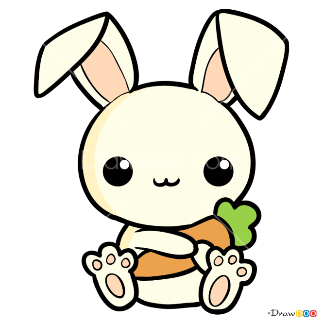 How to Draw Cute Rabbit, Easter