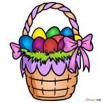 How to Draw Easter Basket, Easter