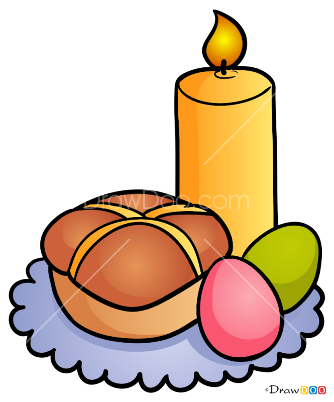 How to Draw Easter Candle, Easter