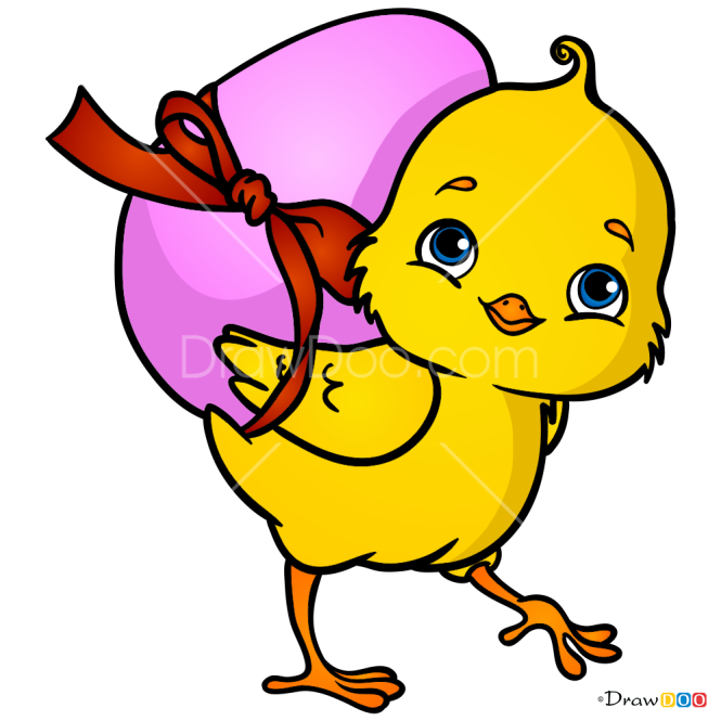 How to Draw Easter Chick, Easter