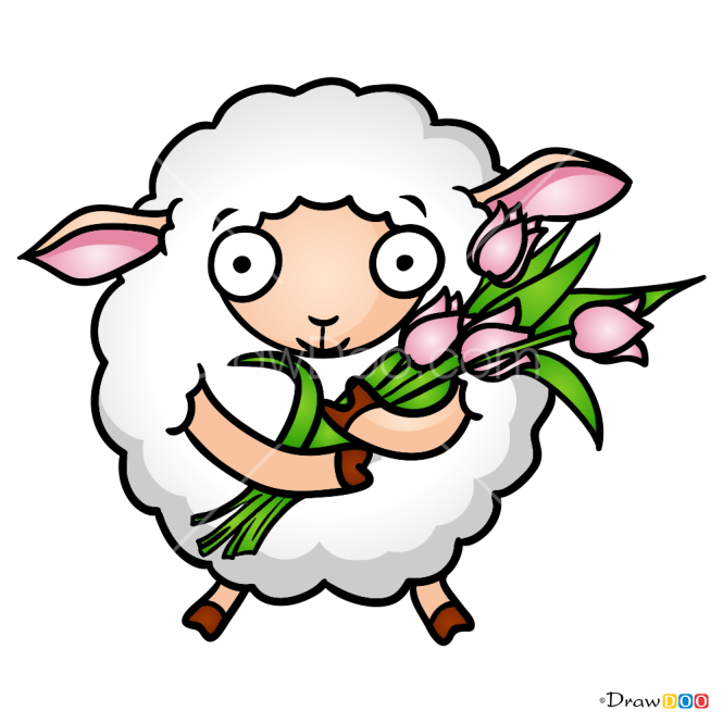 How to Draw Easter Sheep, Easter