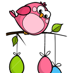 How to Draw Funny Bird, Easter