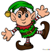 How to Draw Christmas Elf, Elves