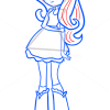 How to Draw Fluttershy, Equestria Girls