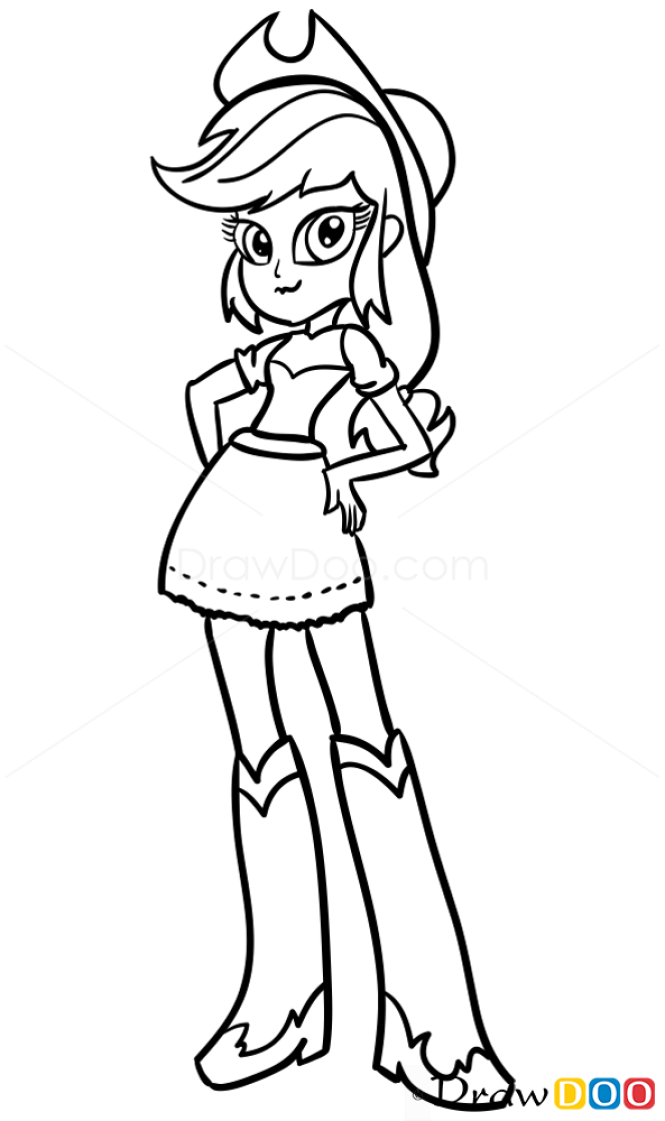 How to Draw Applejack, Equestria Girls
