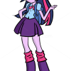 How to Draw Twilight Sparkle, Equestria Girls