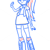 How to Draw Rainbow Dash, Equestria Girls