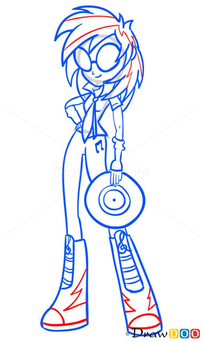 How to Draw Vinyl, Equestria Girls