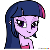 How to Draw Twilight Sparkle Face, Equestria Girls