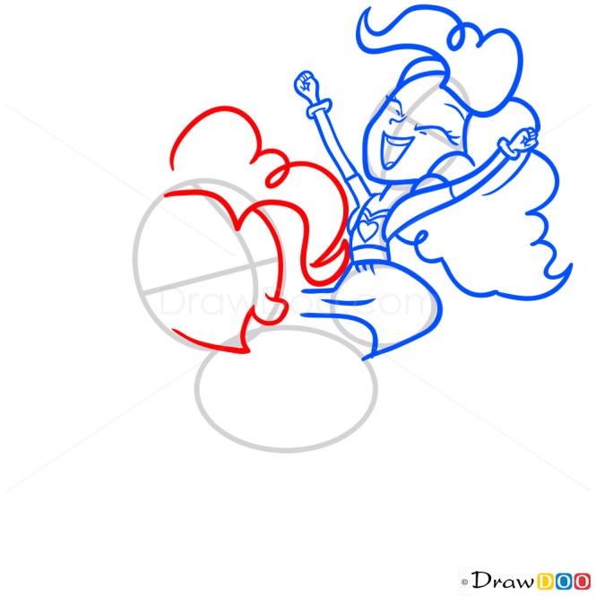 How to Draw Pinkie Pie Riding, Equestria Girls
