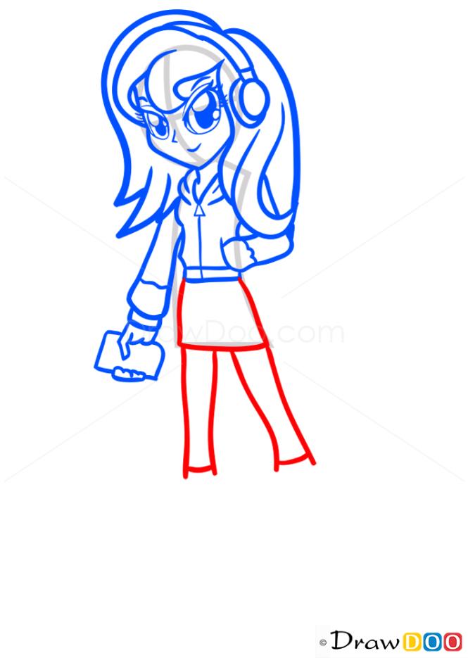 How to Draw Princess Luna, Equestria Girls