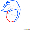 How to Draw Rainbow Dash Face, Equestria Girls