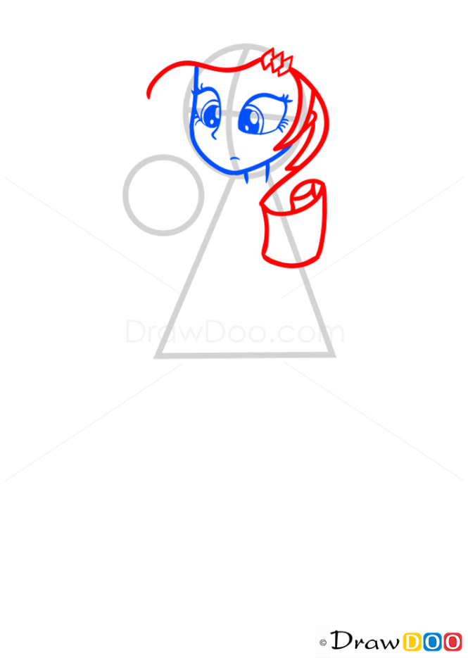 How to Draw Rarity Face, Equestria Girls